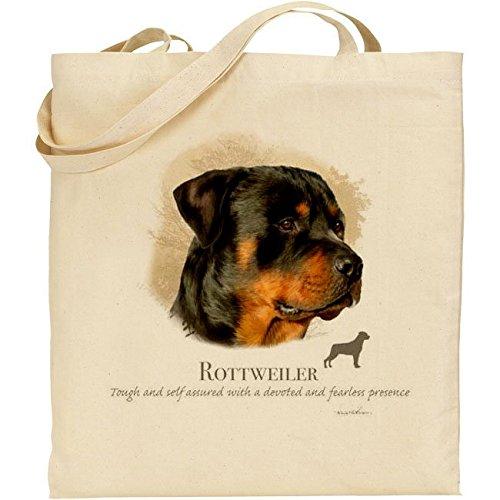 Howard Robinson - borsa in cotone naturale con disegno Rottweiler.