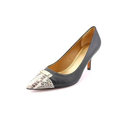 027612c5590 Coach Zan Womens Size 7.5 Black Leather Pumps Heels Shoes: Amazon.co ...