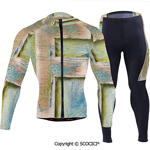 Outdoor Bicycle Rider Bicycle Suit Bicycle Wear,Damaged Worn Uppercase F Printin