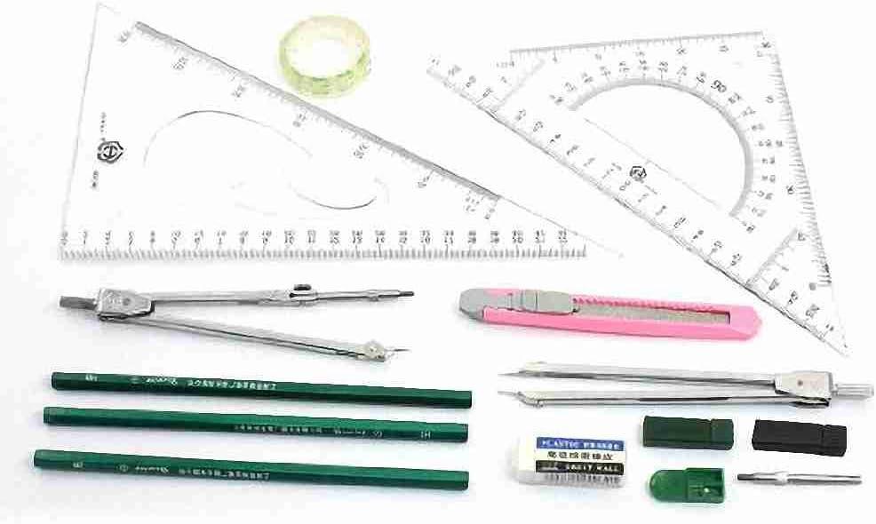 Movimiento y movimiento (TM) Student Herramienta para Plotter Mecánica Instrumentos de dibujo Set 14 en 1: Amazon.es: Oficina y papelería