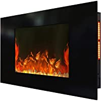 """1500W 36"""" Wall Mounted Electric Fireplace Fire Heater Realistic Flame Effect"""