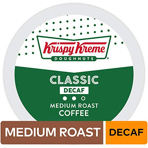 (Krispy Kreme Doughnuts Decaf, Single Serve Coffee K-Cup Pod, Medium Roast, 72)