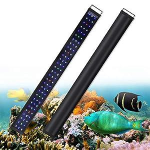 Aquarium Fish Tank Light LED Lighting 48 Inch Lamp for Freshwater Saltwater Marine Full Spectrum Blue and White…