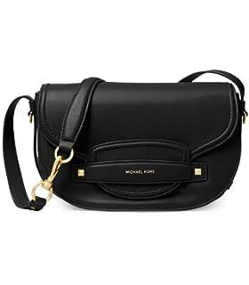 2eb7cfa36812 MICHAEL Michael Kors Women s Cary Medium Leather Saddle Bag One Size ...