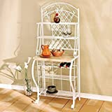 Harper Blvd White Trellis Baker's Rack, White Review