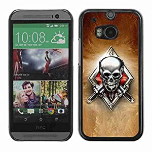 Planetar® ( Skeleton Crest ) Fundas Cover Cubre Hard Case Cover All New HTC One (M8)