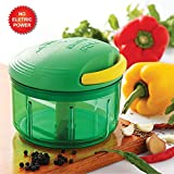 Cello  Plastic Chopper, 725ml, Green/Yellow