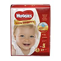 Huggies Little Snugglers Baby Diapers, Size 3, 27 Count