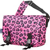 Wildkin Messenger Bag, 15 x 10 Inch Messenger Bag, Includes Interior and Exterior Pockets and Buckled Straps to Close, Ages 8+, Perfect for School, Sports, and Day Trips – Pink Leopard