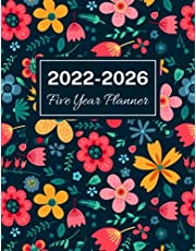 2022-2026 Five Year Planner: Floral Cover, 60 Months Calendar, 5 Year Monthly Appointment Notebook, Agenda Schedule Organizer Logbook With Holidays