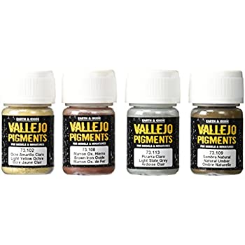 Vallejo Mud and Sand Color Set, 30ml, 4-Pack