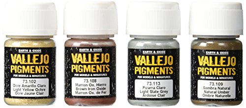 - Vallejo Mud and Sand Color Set, 30ml, 4-Pack