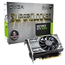 EVGA GeForce GTX 1050 Ti SC GAMING, 4GB GDDR5, DX12 OSD Support (PXOC) (04G-P4-6253-KR)