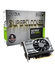 EVGA GeForce GTX 1050 Ti SC GAMING, 4GB GDDR5, DX12 OSD Suppo...