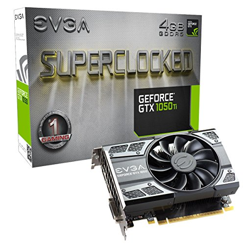 EVGA GeForce GTX 1050 Ti SC Gaming, 4GB GDDR5, DX12 OSD Support (PXOC) Graphics Card (Video Card Memory Interface)