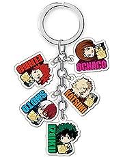 My Hero Academia Keychain, Anime Keychains MHA Izuku Todoroki Katsuki Acrylic Cute Keychains Double-Sided Pattern