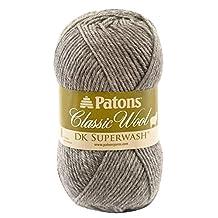 Spinrite Classic Wool DK Yarn, Medium Grey Heather