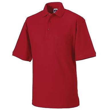 Russell Athletic - Polo - para Hombre Rojo Naranja Medium: Amazon ...