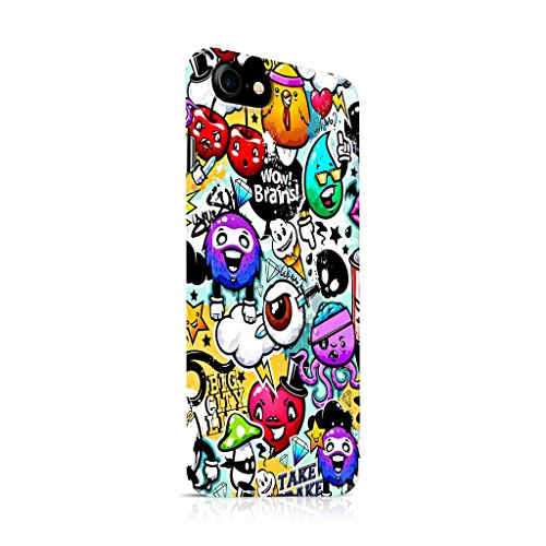 (Cover Affair Funky/Cool/Funny Cartoon Printed Designer Slim Light Weight Back Cover Case for Apple iPhone 7-2016 / Apple iPhone 8-2017 (Covering All)