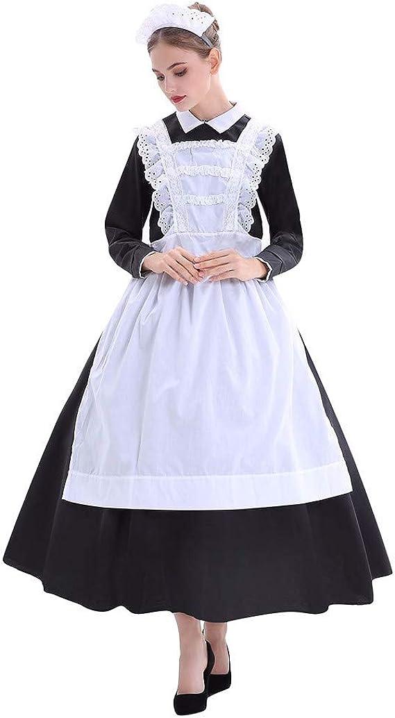 Disfraz de sirvienta de Granja de Halloween para Mujer Traje de ...
