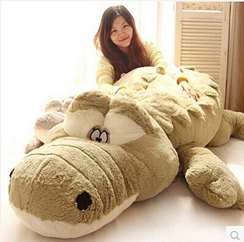 TREGIA 200Cm Cute Animals Big Size Simulation Crocodile Skin Plush Toy Cushion Pillow Toys for Girl Kids Toys Must Have Tools BFF Gifts The Favourite DVD Superhero Cupcake Toppers by TREGIA