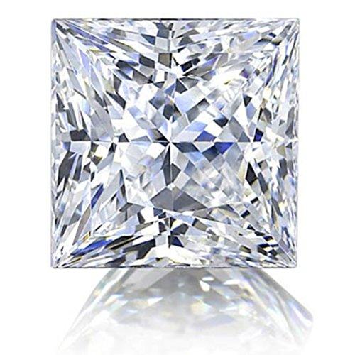 Natural Loose Diamond Princess Cut Fancy White Color SI1 VS1 Clarity 1.80 MM 5 pcs lot K05 ()