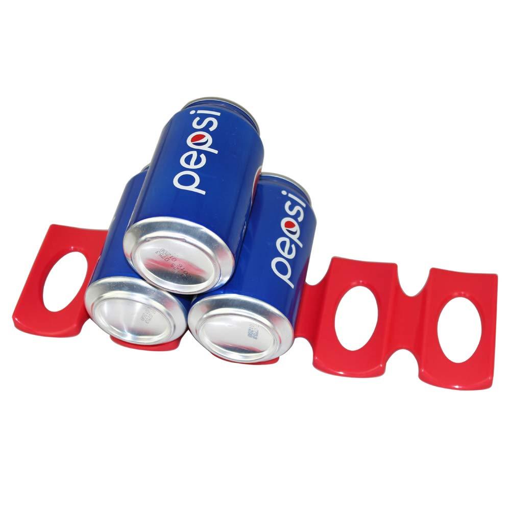 Romdink La lata roja del silicón puede botella del sostenedor del ...