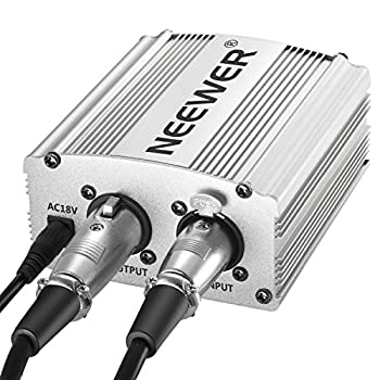 Neewer Phantom Power Kit Includes:1-channel 48v Phantom Power Supply With Adapter & Xlr Audio Cable For Any Condenser Microphone Music Recording Equipment (Silver) 6