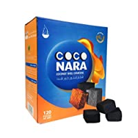 120 Pieces Coco Nara Charcoal Natural Coconut Hookah Shisha Coal Coconara