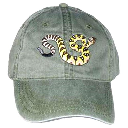 Tom's Bird Feeders Black-tailed Rattlesnake Embroidered Cotton Cap