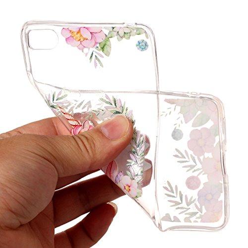 Ecoway TPU Funda Funda para Xiaomi Redmi Note 4, Ultra Delgado Carcasa Antideslizante Suave Parachoques Resistente a los arañazos Contraportada Funda de silicona transparente transparente Parachoques  unicornio