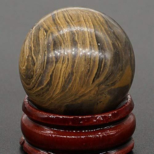 Wholesale Crystal Ball - FidgetGear 30MM Wholesale Lots Mix Natural Gemstone Sphere Healing Globe Crystal Ball Money Stone 1PC