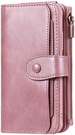 Samsung Galaxy ノート Note10 レザー ケース, 手帳型 サムスン ギャラクシー ノート Note10 本革 財布 携帯ケース カバー収納 防指紋 ビジネス 無料付スマホ防水ポーチIPX8