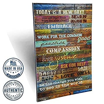 Amazoncom Marla Rae Inspirational Quotes Wall Art Today Is A New