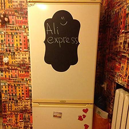 Ajcwhml Etiqueta engomada del refrigerador Venta al por Mayor de Vinilo calcomanías de la Pared Etiqueta de la Pizarra, Tablero de Tiza Pegatinas de Pared Cocina decoración para el hogar c: Amazon.es: