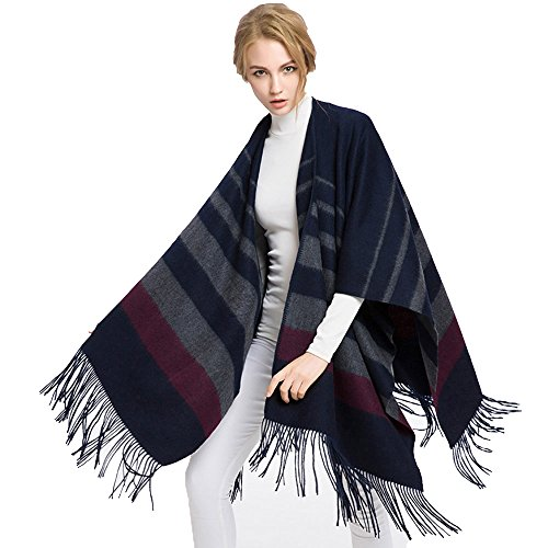 MAGUBA Women wool shawl cloak coat thick double-sided long section by MAGUBA