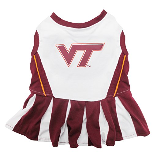 NCAA Virginia TECH Hokies Dog Cheerleader Outfit, X-Small