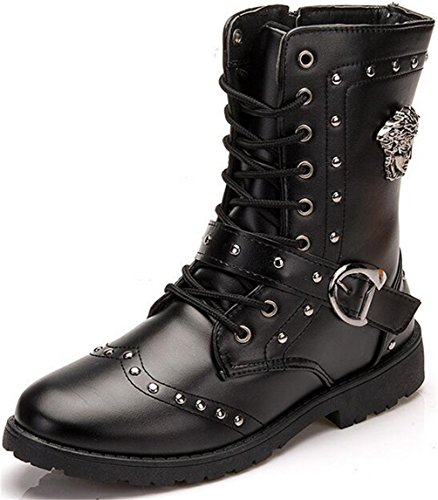 High Top Motorcycle Boots - 1