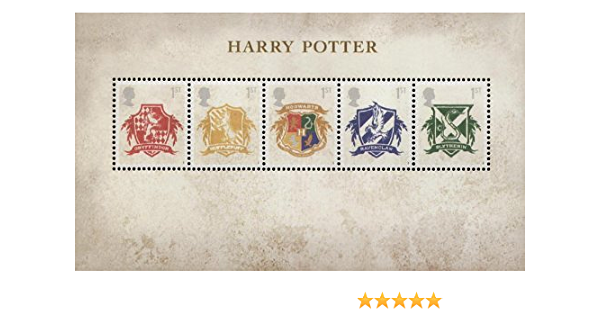 Harry Potter sellos, presentación paquetes, Mini Hoja, PHQ tarjetas postales de/2007, color Mini Sheet: Amazon.es: Oficina y papelería