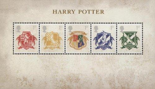 Harry Potter Briefmarken, Präsentation Packungen, Mini Blatt, mit Briefmarkenmotiv/Postkarten 2007 Mini Sheet Präsentation Packungen Royal Mail