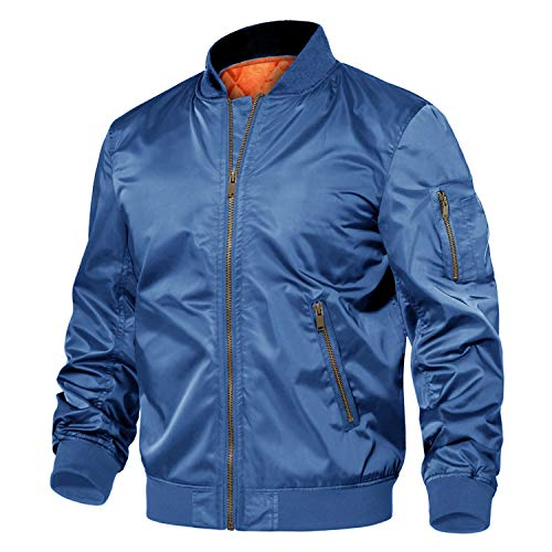 TACVASEN Men's Jackets-Windproof Bomber Jacket Full Zip Winter Warm Padded Coats Outwear