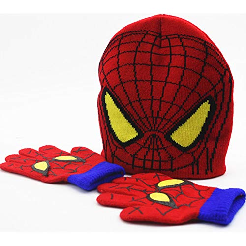 Spiderman gloves,Winter Spiderman Hat and Gloves Set For Kids