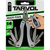 Hardened Steel MultiTool (14 TOOLS IN 1) Multi Purpose Pliers, Knife, Ruler, Cable Cutter, Needle Nose Pliers, Saw, File, Screwdrivers, and More! Carry Case Included!