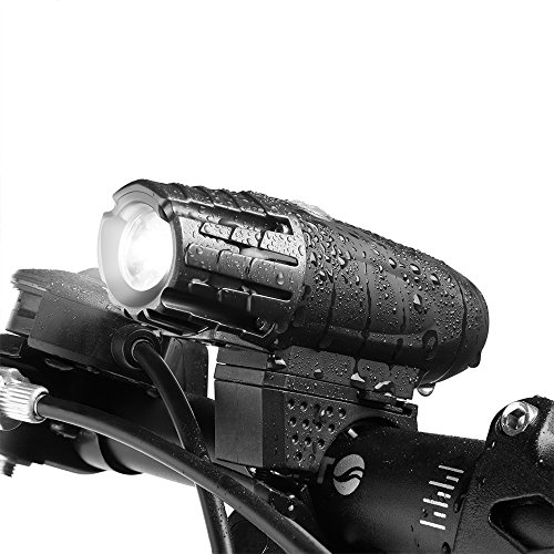USB Rechargeable Bike Light, Bicycle Headlight, LED Water Resistant Front Light, Easy To Install and Remove