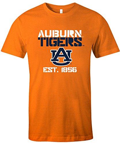 NCAA Auburn Tigers Est Stack Jersey Short Sleeve T-Shirt, Orange,X-Large Orange Football Fan T-shirt