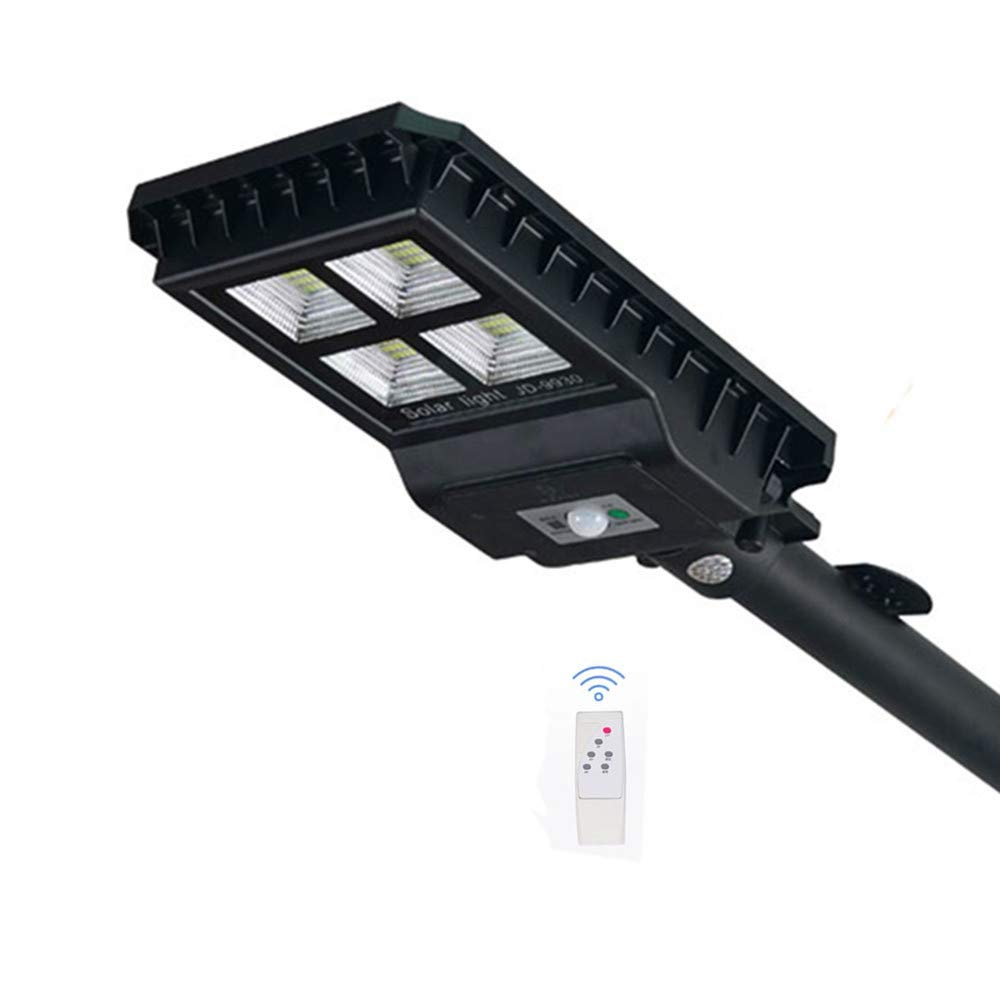 90W Solar Street Light IP65 Waterproof 432 LED Solar Motion Path Light with Remote Control Security Lighting for Yard, Garden, Gutter, Pathway, Basketball Court Path Lighting