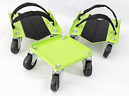 KASTFORCE KF2014 Snowmobile Dolly Heavy Duty 1500Lbs V-Slide Rubber Pad Protecting Skis 2 Pairs Heavy Duty Straps Firmly Attaching on Skis by KASTFORCE