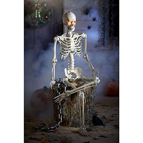 Skeleton Standing - 5 ft. Poseable Skeleton with LED Illumination