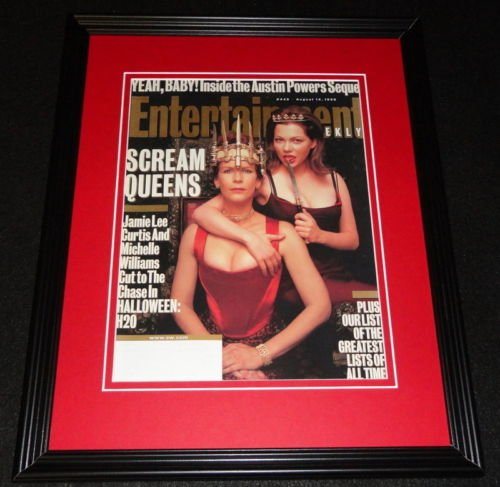 (Halloween H20 Framed ORIGINAL 1998 Entertainment Weekly Cover Jamie Lee)