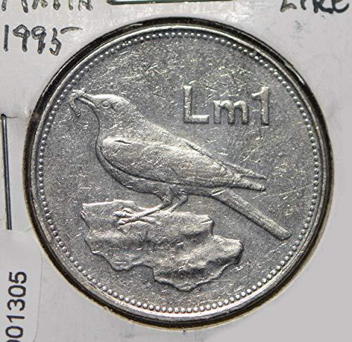 1995 MT Malta 1995 Lira Merill bird animal 901305 DE PO-01